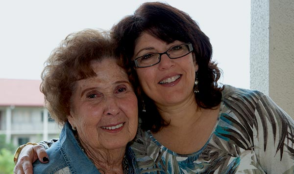 Jewish Family Service of Broward County, Florida provides Rosa with homecare and other essential services with a grant from the Claims Conference to assist Nazi victims.