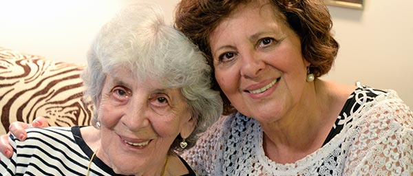 Sidonia Benedek, a survivor of Auschwitz, receives homecare and other vital services from the Jewish Family Service Association of Cleveland with Claims Conference support.