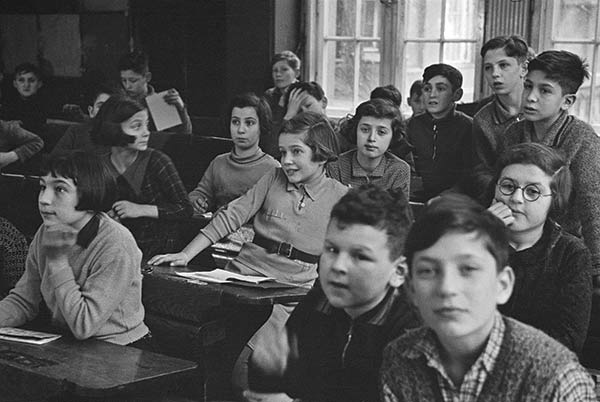 """The Claims Conference provided a grant for the exhibition """"Roman Vishniac Rediscovered"""" which took place at the International Center of Photography in New York and is now traveling. Pictured: Jüdische Oberschule (Jewish Middle School) classroom of the Jüdische Gemeinde (Jewish Community), Grosse Hamburgerstrasse, Berlin, ca. 1936. © Mara Vishniac Kohn, courtesy International Center of Photography . View a slideshow of the images."""